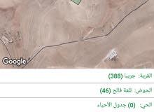 أرض في جريبا، حوض تلعة فالح مساحة 6313 للبيع