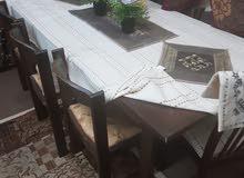 طاوله خشب 6 مقاعد