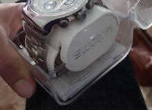 ساعة سواتش ستيل جميلة جدآ جديدة مع كامل اوراقها واعلبتها