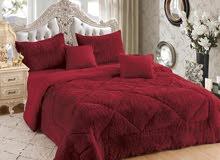 مفرش سرير لحاف محشي فرو توصيل لجميع الإمارات