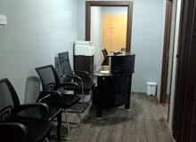 فرصه مكتب مؤثث للايجار شارع سالم المبارك  اقرب للدائري الرابع