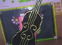 ديكور آلة الكمان مصنوع باليد