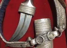 خنجر للبيع صياغه قديمه قرن زراف هندي