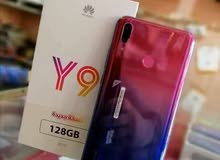 Y9 2019 مقصطر كرتونه كامل الملحقات   زاكره 128G  رام 4G  بسعر  70,000ج