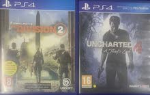 ps4 cd uncharted 4 and the division 2