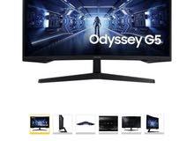 Samsung odyssey g5 32 inch curve 144 hz استعمال اسبوعين