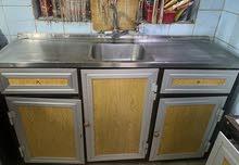 كاونترات مطبخ + ملحقات المنيوم صب