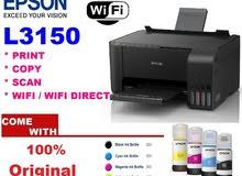 Epson EcoTank L3150 Wi-Fi All-in-One Ink Tank   أيبسون   طابعة ونسخ وسكان