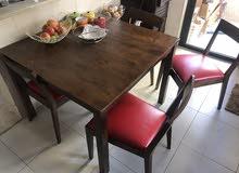طاولة مطبخ مع 4 كراسي