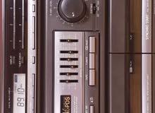 أستريو Panasonic دبل كاسيت راديو بحث ذاتي  بحال الوكالة استعمال خفيف  نظيف جدا