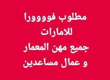 مطلوب عمال بدولة الإمارات