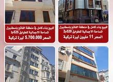 للبيع عمارات شقق مفروشة في اسطنبول تركيا المساحات مختلفة الأسعار مختلفة
