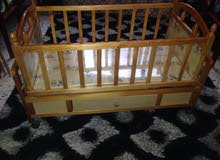 سرير طفل أقل من 3 سنوات ،، خشبي هزاز