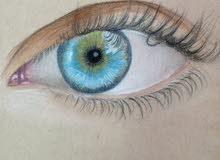 رسمة واقعية للعين