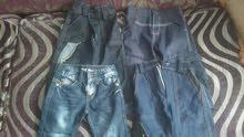 اربع بناطيل جينز جداد اولادي مقاس سنتين الواحد علي 75 جنيه