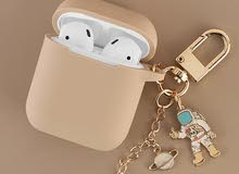 Space astronaut silicone case for IPhone Airpods 1 2