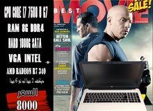 لجرفك العالي جدااا -HP NOTEBOOK 15, CORE I7 جيل سابع. رمات 8 جيجا DDR4 ب2VGA