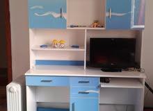 غرفة نوم أطفال 7/قطع شبه جديدة