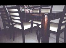 مستعمل طاولة طعام مع سبع كراسي dinner table with seven chairs