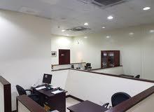 مقر شركة نموزجي.. ارضي . معرض ومستودع وغرفة تبريد .. وميزانين مكاتب مؤثثة بالكام