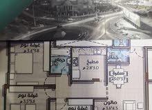 للبيع شقة أرضية 115 مع انتفاع خارجي محيط الشقة
