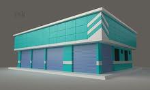 (للمبادله)مطلوب اراضى بمصفوت للبدل بمبنى محلات جديد