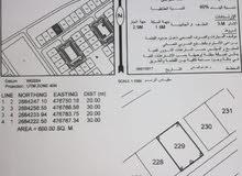 للبيع ارض سكنيه صحار العوينات مربع 6 زاويه موقع ممتاز