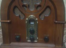 راديوكاسيت انتيكابالكرتونه خشب جديد شغال ترانزيستور من 1988