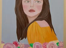 لوحة فنية من الالوان الزيتيه