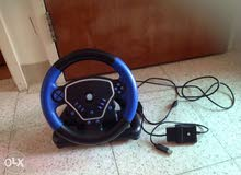 Gaming Steering Wheel With Shifter , Accelerator And Brake Pedals