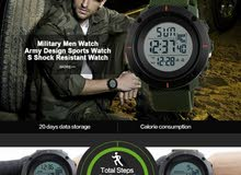 Original Fitness Pedometer 3D Sports Watch - Army Green [1yr Warrenty]