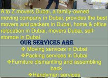 A to Z Movers and Packers Dubai - Hire The No1 movers company in Dubai, UAE