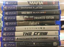 مجموعة اشرطة PS4 للبيع!
