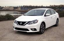 White Nissan Sunny 2016 for rent