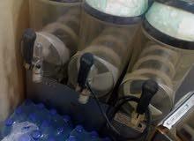 ماكينة سلاش عدد 2 يطالي و دنبر ياباني، +غاز مع دلال قهوة صب مع غاز مع صخان