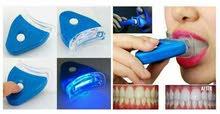 (جهاز تبييض الاسنان بالليزر )توصيل لجميع المحافضات