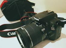 كاميرا كانون 100d شبهه جديده بكامل ملحقاتها للبيع