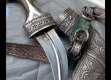 خنجر بقرن زراف هندي صياغة قديمة