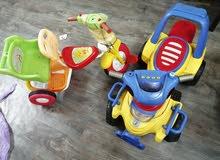 دباب وعجلة اطفال للبيع 100 ريال الاتنين لسرعة