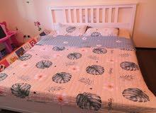 سرير 200×200 لون ابيض ايكيا