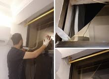 تفصيل الزجاج المرايا للأبواب والشبابيك والطاولات والجدران الغرف النوم قزاز زجاج البايض