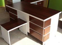 مكتب 160سم مع جانبية وادراج وطاولة