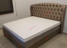 ظهر تخت ..و راسية سرير مزدوج و مفارش تخت عدد 4
