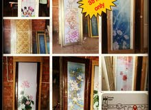 Glass aluminum door size 78x210  35 rial only