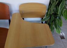كرسي خشب بمسند عريض متحرك