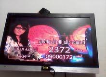 تيليفزيون وشاشة بلوتو 23 بوصة بحالة ممتازة + ريسيفر + وصله hdmi