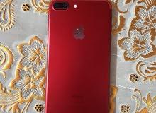 ايفون 7 بلاص ذاكره 128 لون احمر نضيف موجود واتساب وتصال