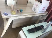 اثاث مكتبي ميز + مكتبه + كرسي دوار