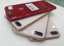 ايفون 8 بلاس ذاكرة 64 جيبي نظيف واصلي