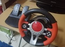 steering wheel for ps2/ps3/pc used 1month only